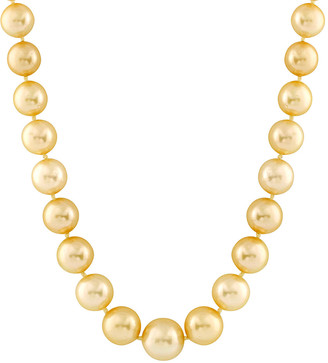 Splendid Pearls 14K 10-13Mm Golden South Sea Pearl Necklace