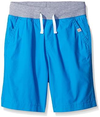 Scout + Ro Little Boys' Poplin Ribbed Waistband Short