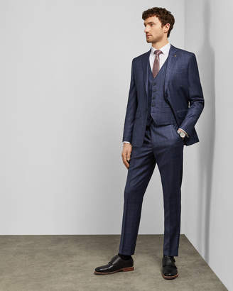 Ted Baker WHARFET Debonair checked wool trousers