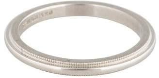 Tiffany & Co. Platinum Milgrain Wedding Band