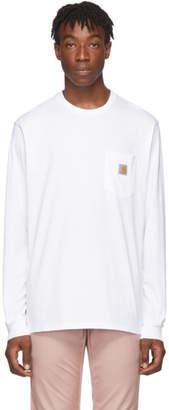 Carhartt Work In Progress White Long Sleeve Pocket T-Shirt