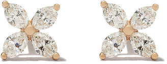 Tiffany & Co. & Co 18kt rose gold Victoria diamond small stud earrings