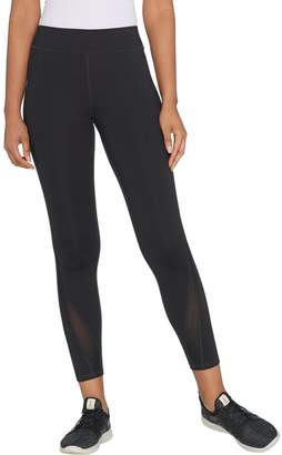 Susan Lucci Collection Regular Ankle Leggings with Mesh Detail