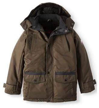 Yoki Parka Length Jacket with Removable Hood and Sherpa Lining (Big Boy)