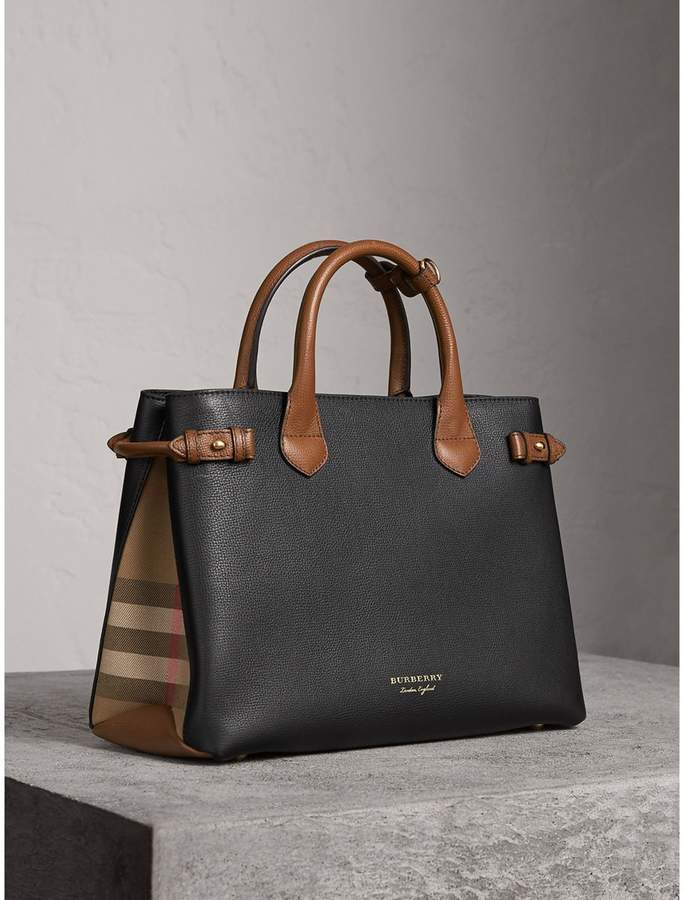 Burberry The Medium Banner in Two Tone Leather