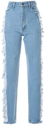 Pony Stone straight-leg distressed jeans