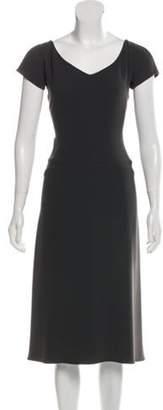 Narciso Rodriguez Short Sleeve Midi Dress green Short Sleeve Midi Dress