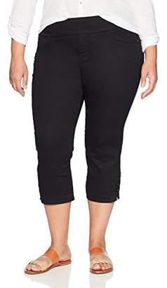 Lee Women's Plus Size Modern Series Midrise Fit Elena Pull-on Capri Pant