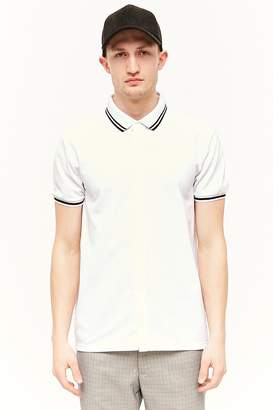 Forever 21 Button-Front Polo Shirt