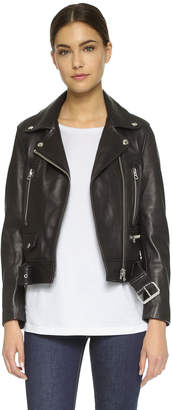Acne Studios Mock Leather Moto Jacket $1,600 thestylecure.com