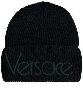 Versace vintage logo knitted beanie