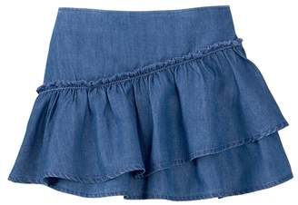 Crazy 8 Ruffle Chambray Skirt