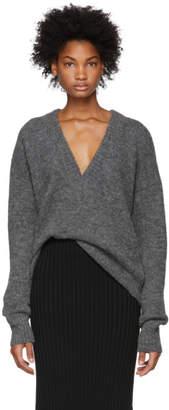 Tibi Grey Airy Sweater