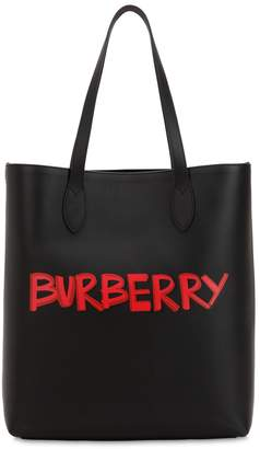 Burberry Graffiti Smooth Leather Tote Bag