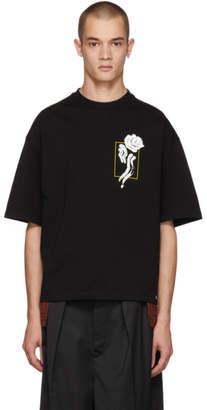 ALMOSTBLACK Black Flower T-Shirt