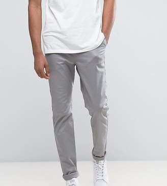 Asos TALL Slim Chinos In Warm Gray