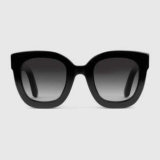 20ac6b0cd4e Gucci Round-frame acetate sunglasses with star