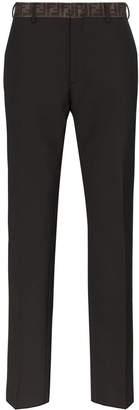 Fendi FF-waistband tailored trousers