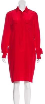 Joseph Silk Shirt Dress Red Silk Shirt Dress