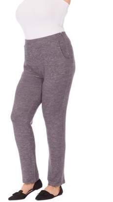 Concepts Plus Moda Women's Plus Side Zip Knit Pant