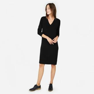 The Cashmere V-Neck Midi Dress
