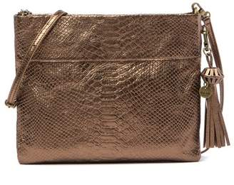 The Sak COLLECTIVE Tomboy Convertible Snake Embossed Leather Clutch