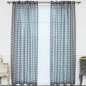 Best Home Fashion Best Home Fashion, Inc. Plaid & Check Sheer Rod Pocket Curtain Panels
