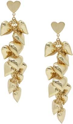 Ettika Heart Cluster Drop Earrings