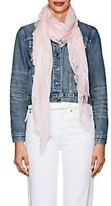 Faliero Sarti Women's Rosy Lace-Trimmed Gauze Scarf - Rose