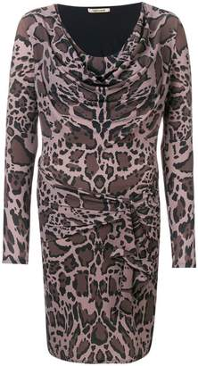 Roberto Cavalli animal print fitted dress