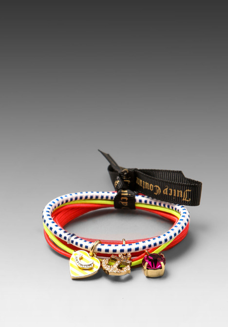 Juicy Couture Set of 3 Charm Elastics