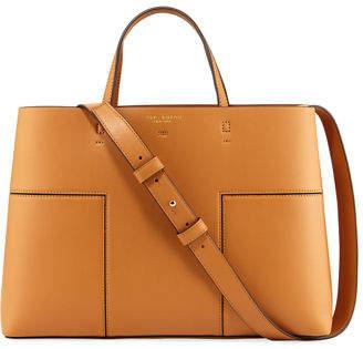 Tory Burch Block-T Triple Compartment Tote Bag