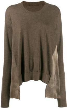 UMA WANG panelled sweater