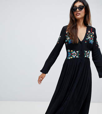 Asos Tall TALL Embroidered Maxi Dress