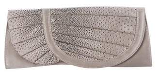 Giorgio Armani Crystal-Embellished Satin Clutch