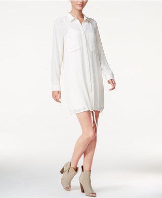 kensie Drawstring Shirtdress $89 thestylecure.com