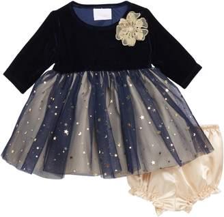 Frais Metallic Moon & Stars Tulle Dress