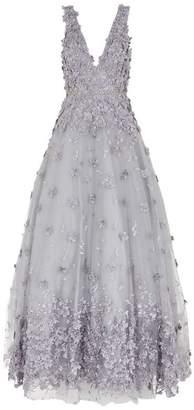 Jovani 3D Flower Appliqué Gown