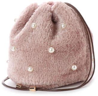 cache cache (カシュカシュ) - カシュカシュ cache cache エコファーパール付き巾着バッグ