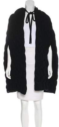 Saint Laurent Virgin Wool Cable-Knit Cape