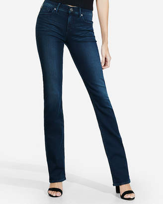 Express Mid Rise Dark Wash Stretch+ Barely Boot Jeans