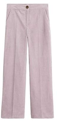 MANGO Corduroy straight trousers