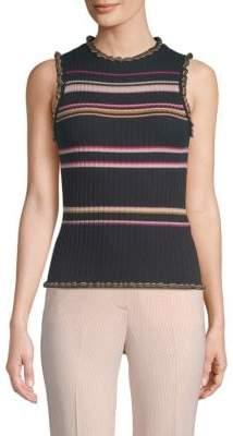 Rebecca Taylor Striped Knit Tank Top