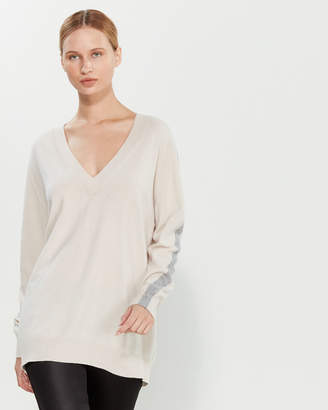 Liviana Conti V-Neck Tunic Sweater