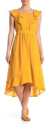 Spense Square Neck Midi Dress