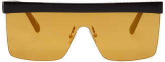 Stella McCartney Black and Yellow Falabella Shield Sunglasses