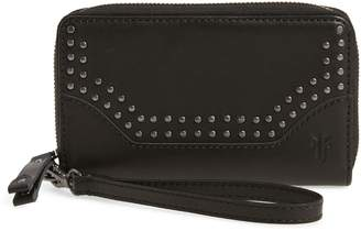 Frye Melissa Studded Leather Phone Wallet