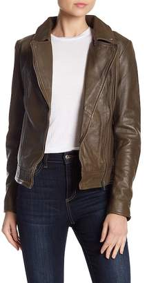 Muu Baa Muubaa Sabik Genuine Leather Biker Jacket