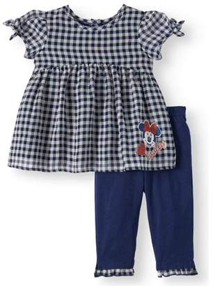 Minnie Mouse Short Sleeve Gingham Tunic Top   Leggings f63f6c56c