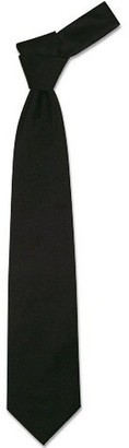 Forzieri Solid Black Extra-Long Tie